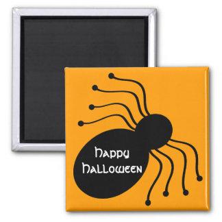Halloween Black Spiders on Orange Magnet