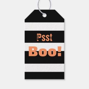 Halloween Black White Stripes Boo Gift Tags