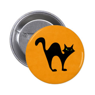 Halloween blackcat pinback button