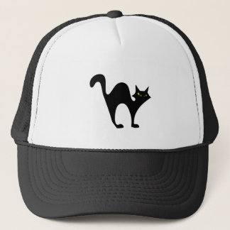 Halloween blackcat trucker hat