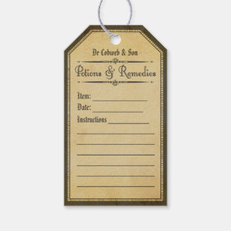 Halloween blank vintage apothecary tags