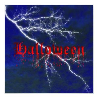 Halloween Blood Dripping Invitation Template