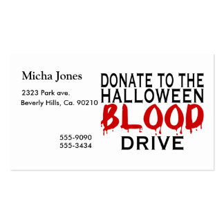 Halloween Blood Drive Pack Of Standard Business Cards