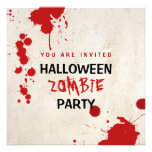 Halloween Bloodstained Zombie Party Invitations