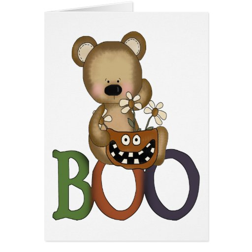 Halloween Boo Bear Greeting Card