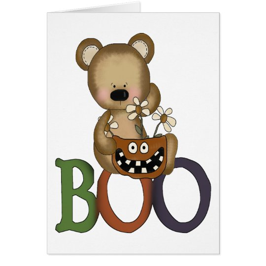 Halloween Boo Bear Card