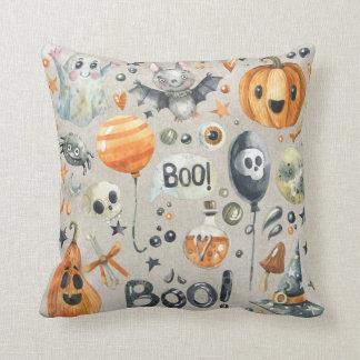 Halloween - Boo Watercolor Cuties Cushion