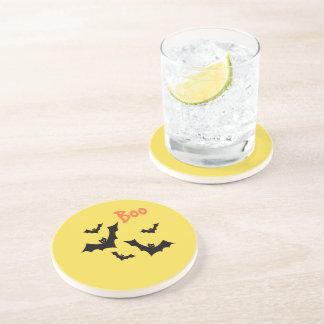 Halloween Boo with Bats home decor Coaster