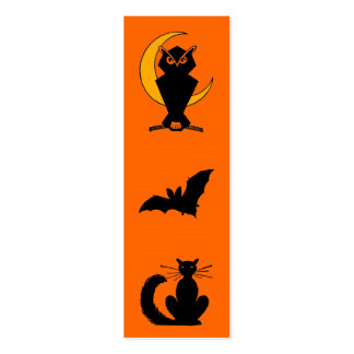 Halloween Bookmark Business Cards