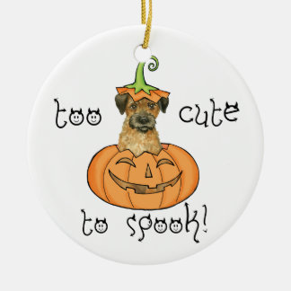 Halloween Border Terrier Christmas Ornament