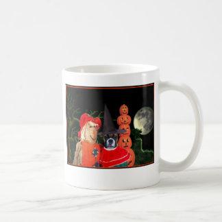 Halloween boxer dog mug