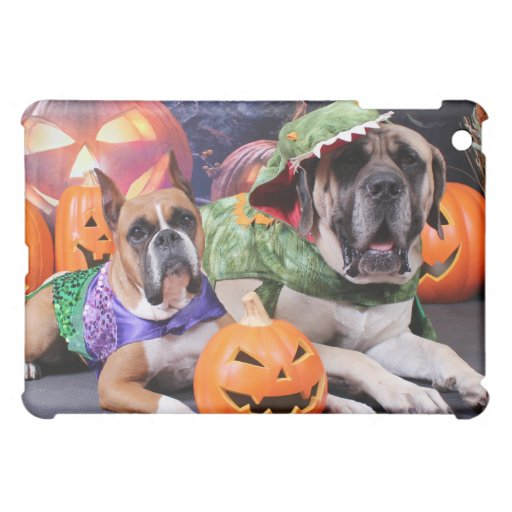 Halloween - Boxer - Roxy and Mastiff - Lach iPad Mini Cases