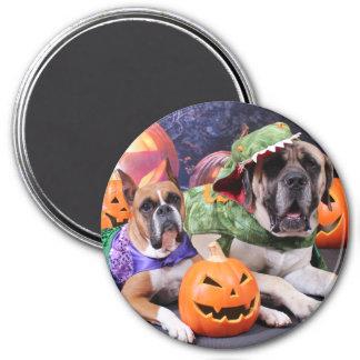 Halloween - Boxer - Roxy and Mastiff - Lach Fridge Magnets