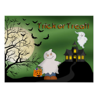 Halloween Boy Ghost Poster/Print Poster