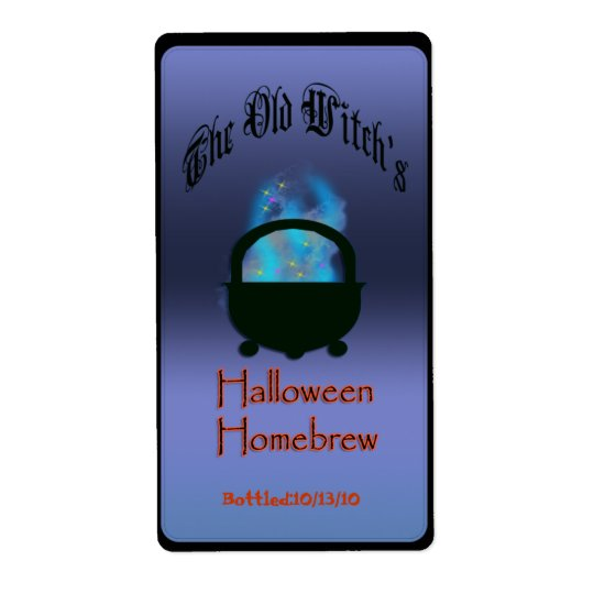 halloween brew shipping label