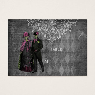 Halloween Bride & Groom Wedding Guest Place Cards