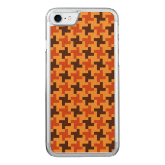 Halloween Brown Bricks Pattern on Yellow Carved iPhone 8/7 Case