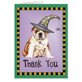 Halloween Bulldog Card