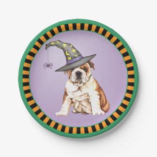 Halloween Bulldog Paper Plate