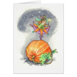 Halloween bunny fairy card