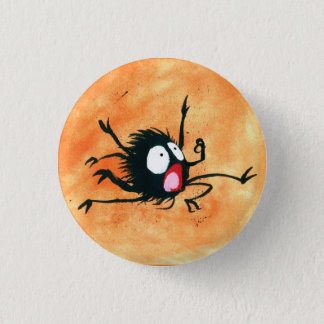 Halloween Button! Spooked Little Spider! 3 Cm Round Badge