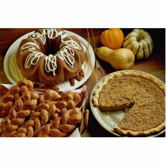 Halloween cake and pie standing photo sculpture