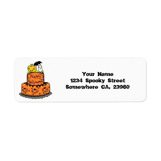 Halloween Cake Return Address Label