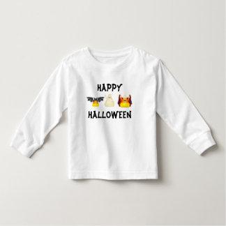 Halloween Candy Corn Characters Bat Dracula Mummy Toddler T-Shirt