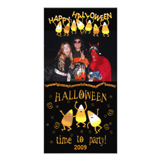 Halloween Candy Corn Custom Photo Card