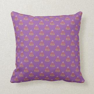 Halloween Candy Corn Dot Pattern Purple Art Cushion