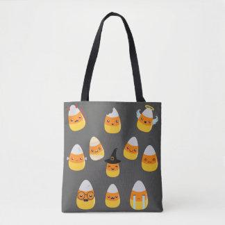 Halloween Candy Corn Emoji Trick Or Treat Tote Bag