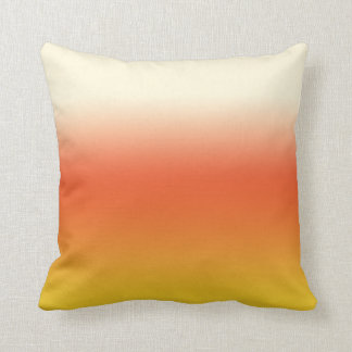 Halloween Candy Corn Gradient Ombre Throw Cushions