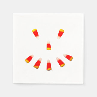 Halloween Candy Corn Grin Paper Napkins