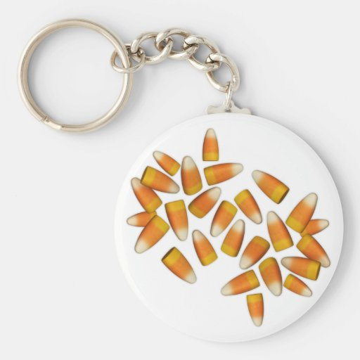 Halloween Candy Corn Keychain