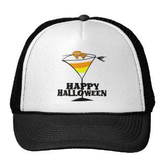 Halloween Candy Corn Martini Trucker Hats