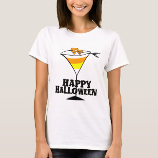 Halloween Candy Corn Martini T-shirt