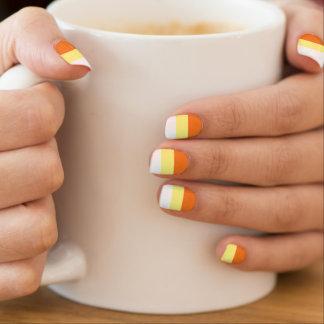 HALLOWEEN CANDY CORN nails Minx Nail Art