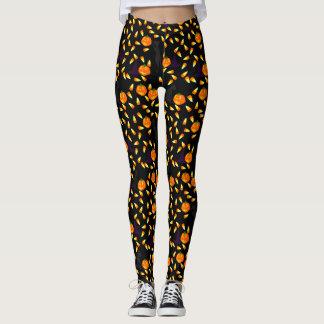 Halloween Candy Corn Novelty Print Leggings