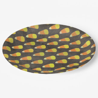 Halloween Candy Corn Pattern 9 Inch Paper Plate
