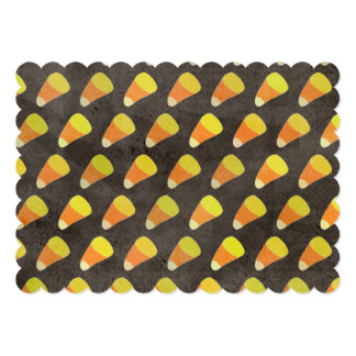 Halloween Candy Corn Pattern 5x7 Paper Invitation Card