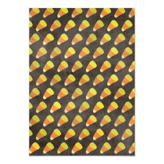 Halloween Candy Corn Pattern Custom Invitations