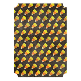 Halloween Candy Corn Pattern 5x7 Paper Invitation Card