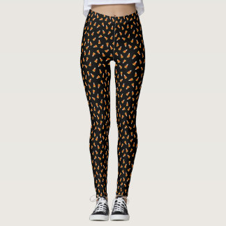 Halloween Candy Corn Pattern Leggings