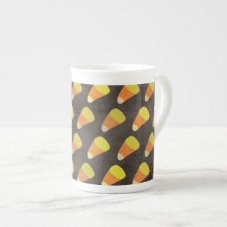 Halloween Candy Corn Pattern Tea Cup
