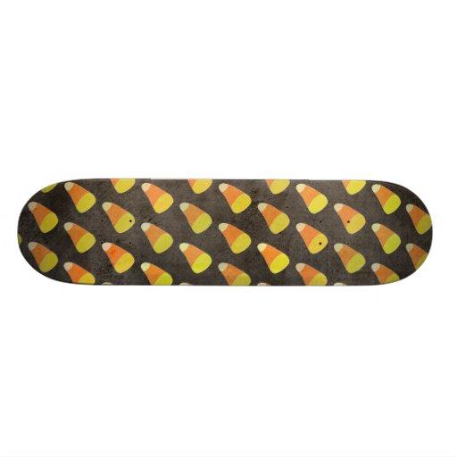 Halloween Candy Corn Pattern Skateboard Deck