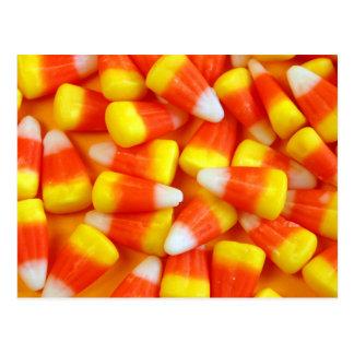 Halloween candy corn postcard