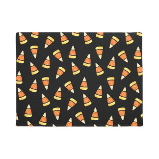Halloween Candy Corn Print Doormat