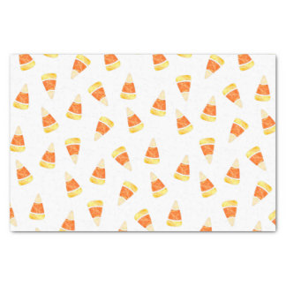 "Halloween Candy Corn Print 10"" X 15"" Tissue Paper"