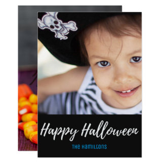 Halloween Candy Corn Spider Family Photo Card