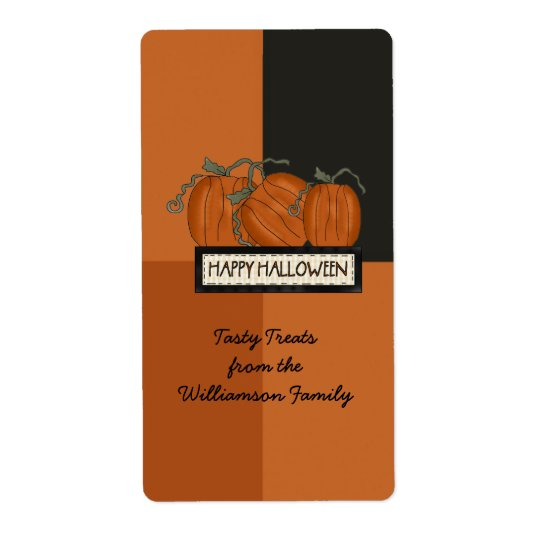 Halloween Candy Custom Gift Bag